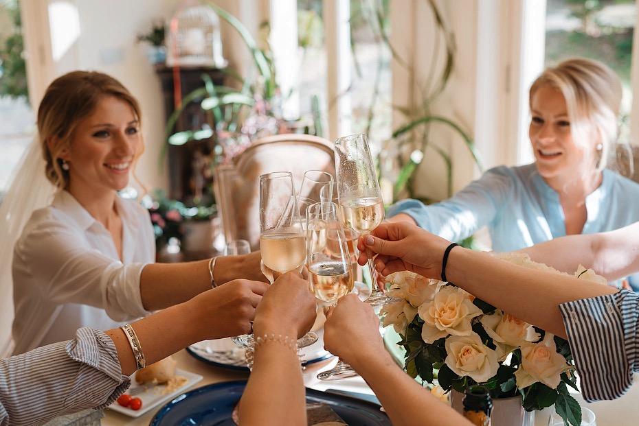 Wedding toast in Bath