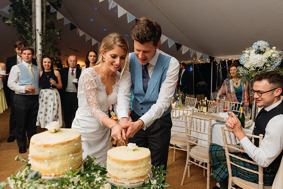 Cutting of the Wedding Cake in Bath