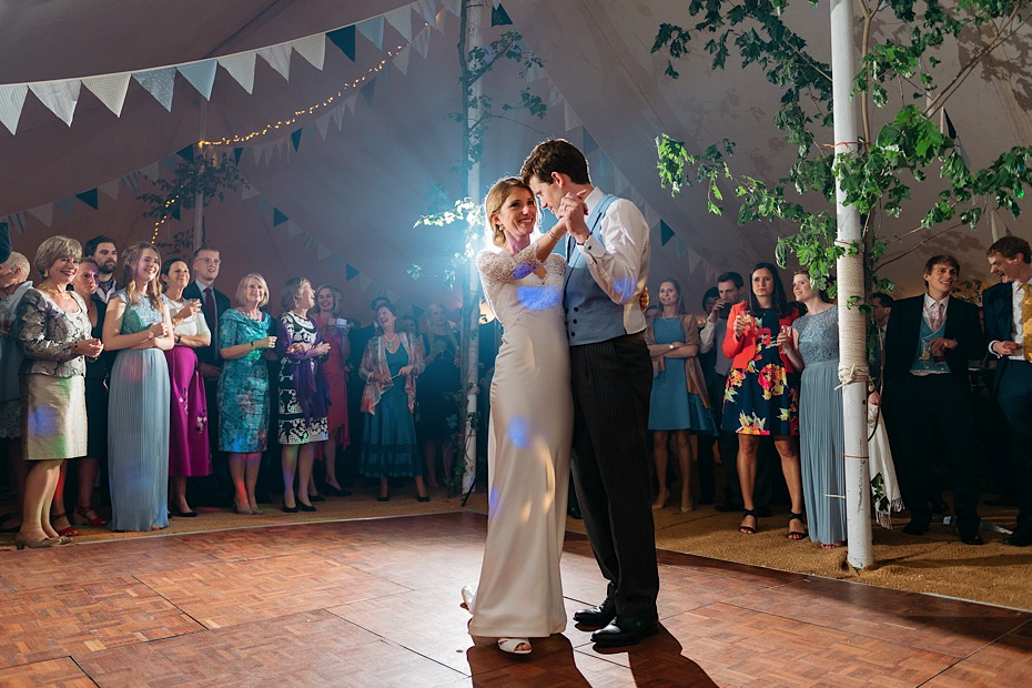 First dance at the wedding in Bath