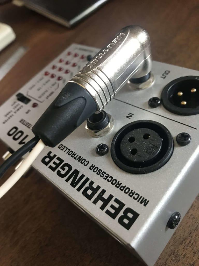 スピーカーケーブル (Belden 8470) と NEUTRIK NP2RX