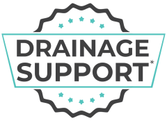 Drainage product badge