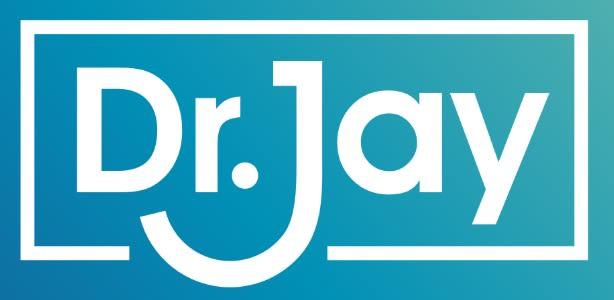 Doctor Jay Logo Blue Background