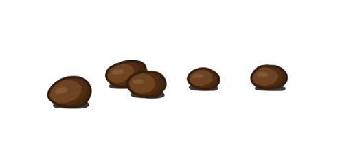 separate hard lumps, like nuts