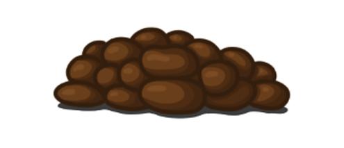 Sausage-shaped, but lumpy