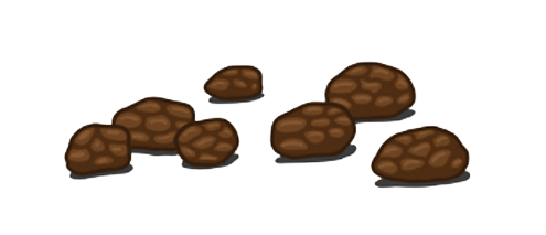 Soft blobs with clear- cut edges (easy to pass)