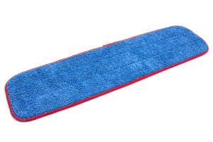 20'' x 5.5'' Microfiber Wet Mop Pad with Red Edge Stitching