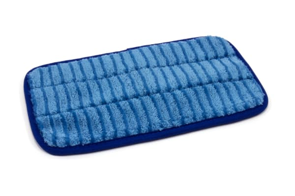 10'' x 5.5'' Microfiber Scrubber Mop Pad - Vertical Stripes