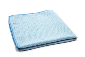 Lightweight Waffle-Weave Window and Glass Towels (300 gsm, 16 in. x 16 in.)