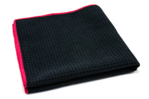 Waffle-Weave Window and Glass Microfiber Cleaning Towel (400 gsm, 16 in. x 16 in.)