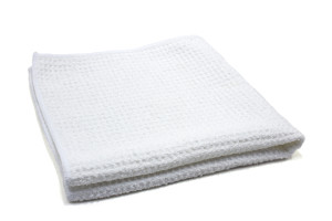 Heavy Weight Waffle-Weave Window and Glass Microfiber Cleaning Towel (500 gsm, 16 in. x 16 in.)