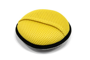 Round Microfiber Mesh/Terry Cleaning Sponge (5 in. x 1.5 in.)