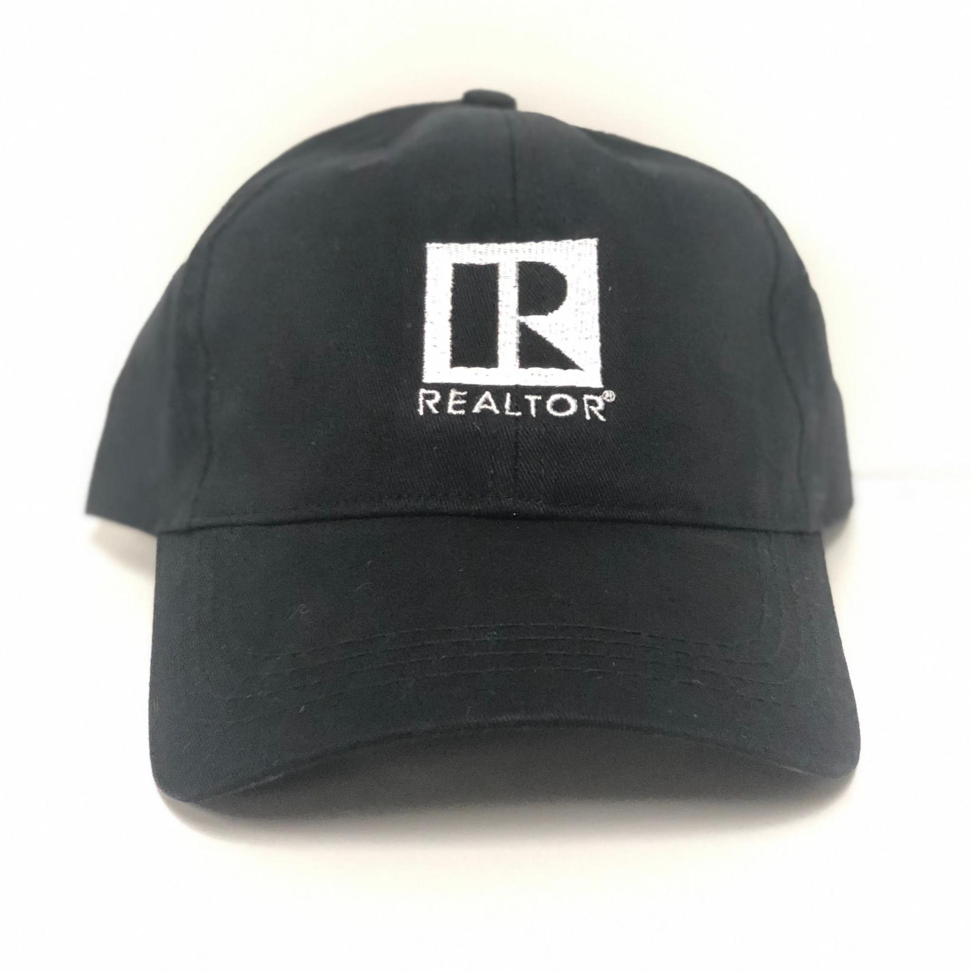 Realtor cap, realtor hat, black hat, black cap,