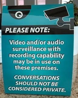Video/Audio Warning Sign provided by Williamson County Association of Realtors®