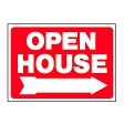 Open House w/Arrow -- Square RED provided by WCREALTORS®