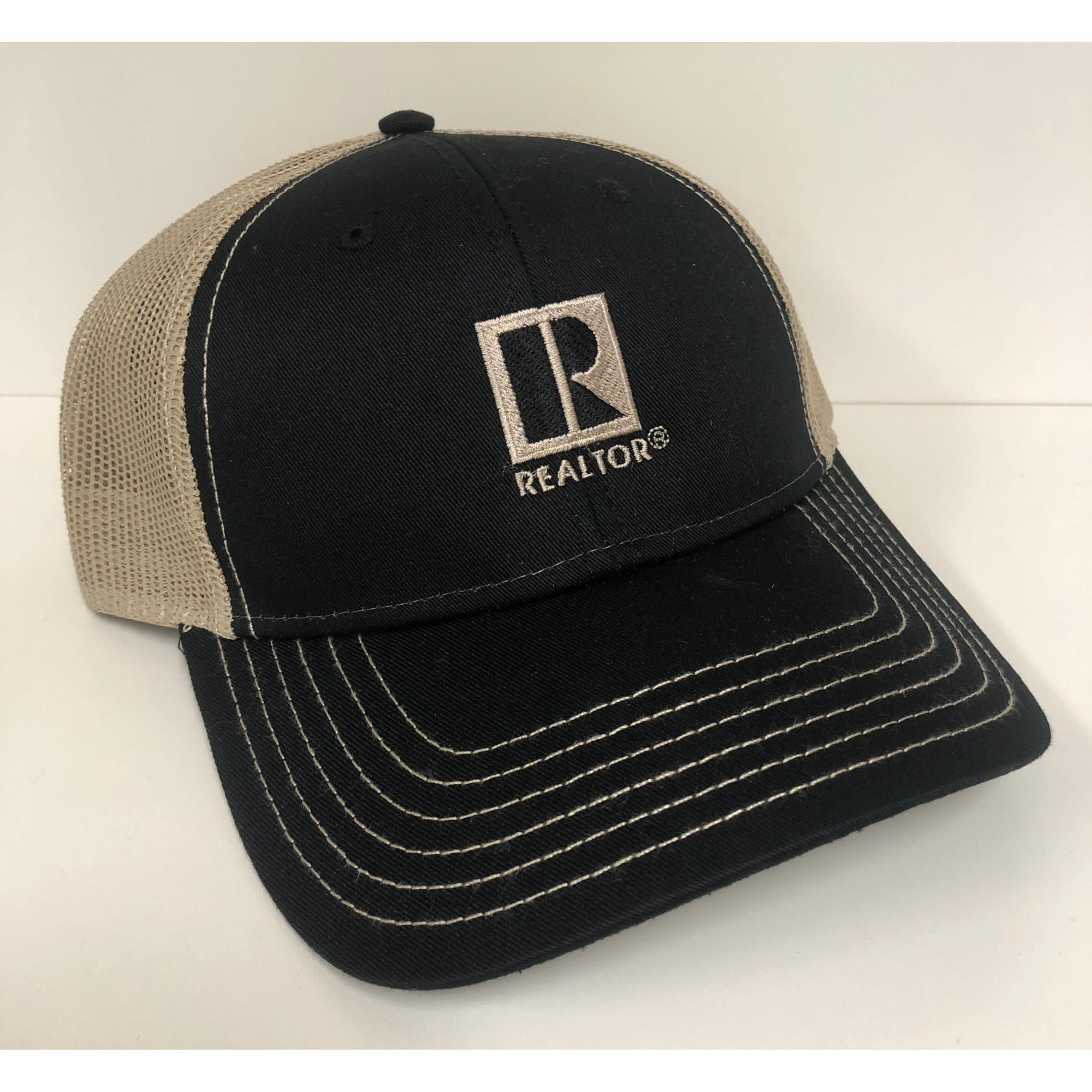 Black and Tan REALTOR® Trucker Cap provided by WCREALTORS