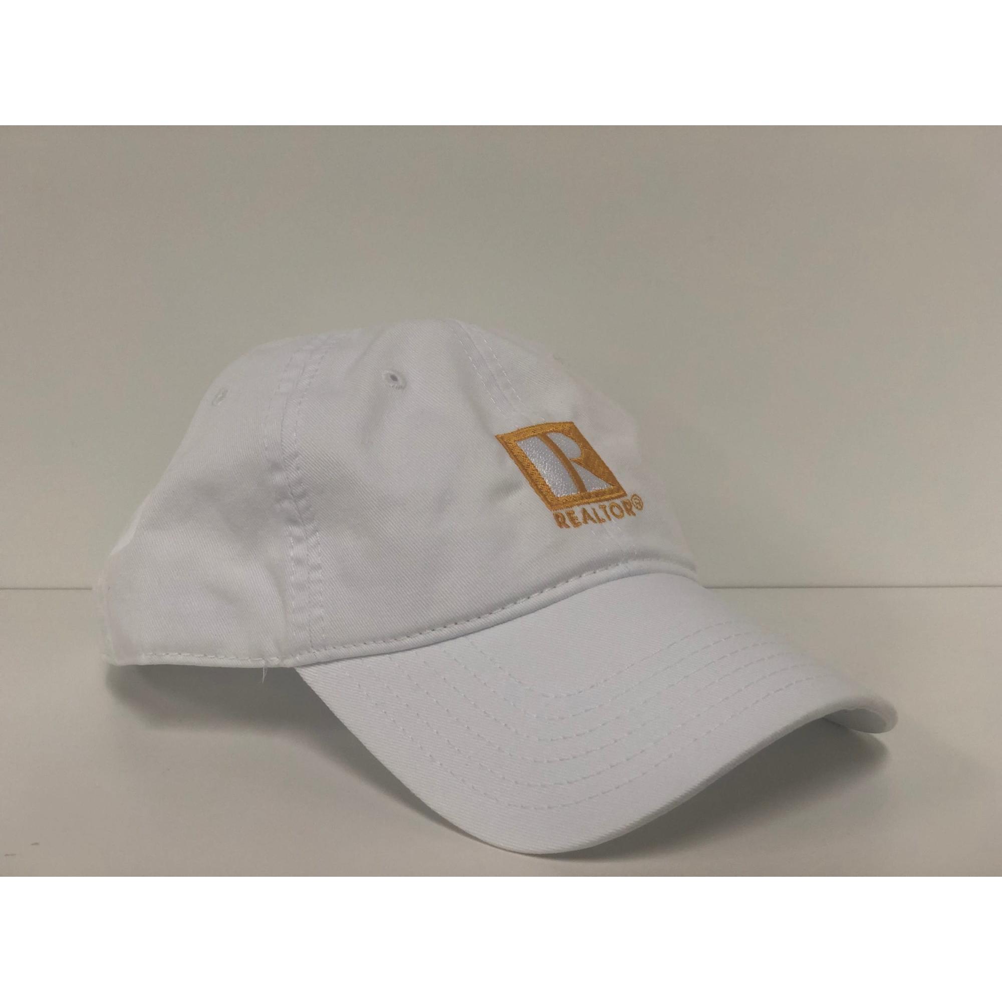 White REALTOR® Ball Cap provided by WCREALTORS®