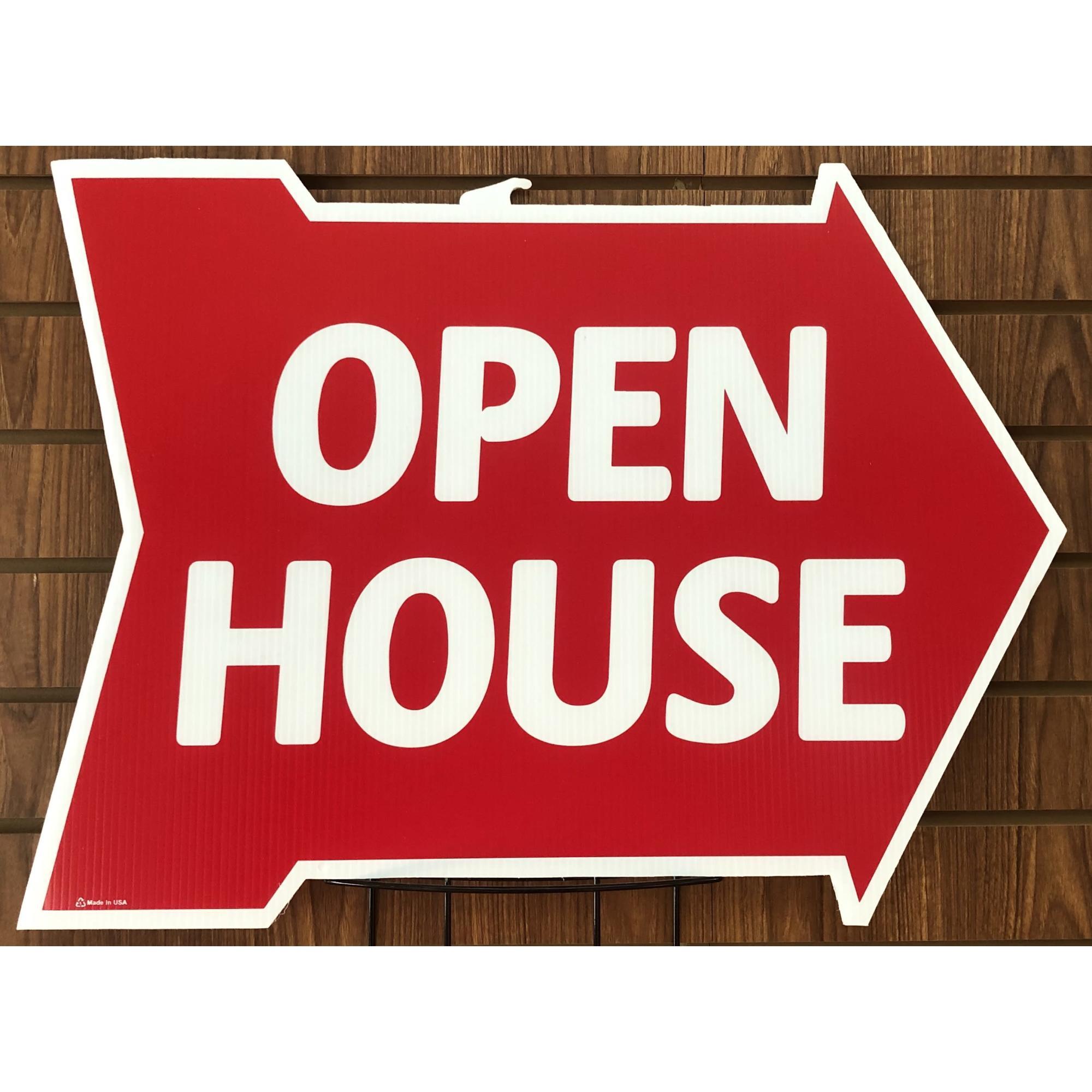 Open House-- Arrow Shape RED provided by WCREALTORS®