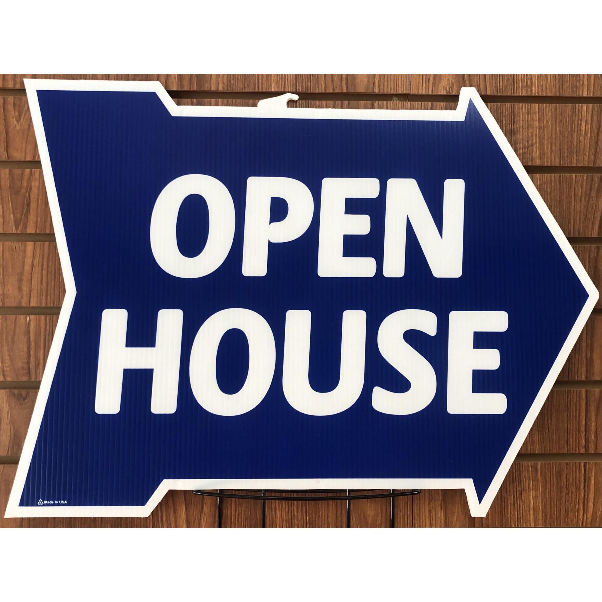 Open House -- Arrow Shape BLUE