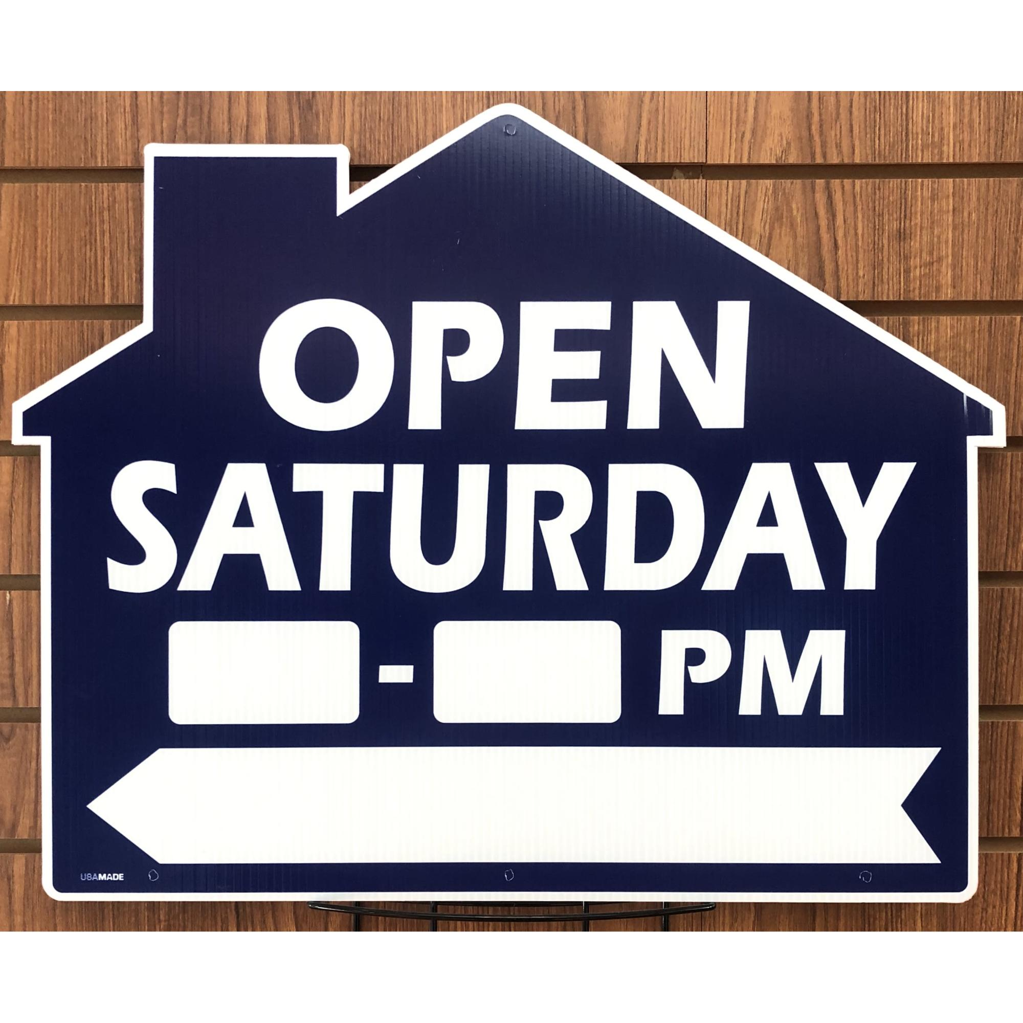 Open Saturday __to__ -- House BLUE (Directional) provided by WCREALTORS®