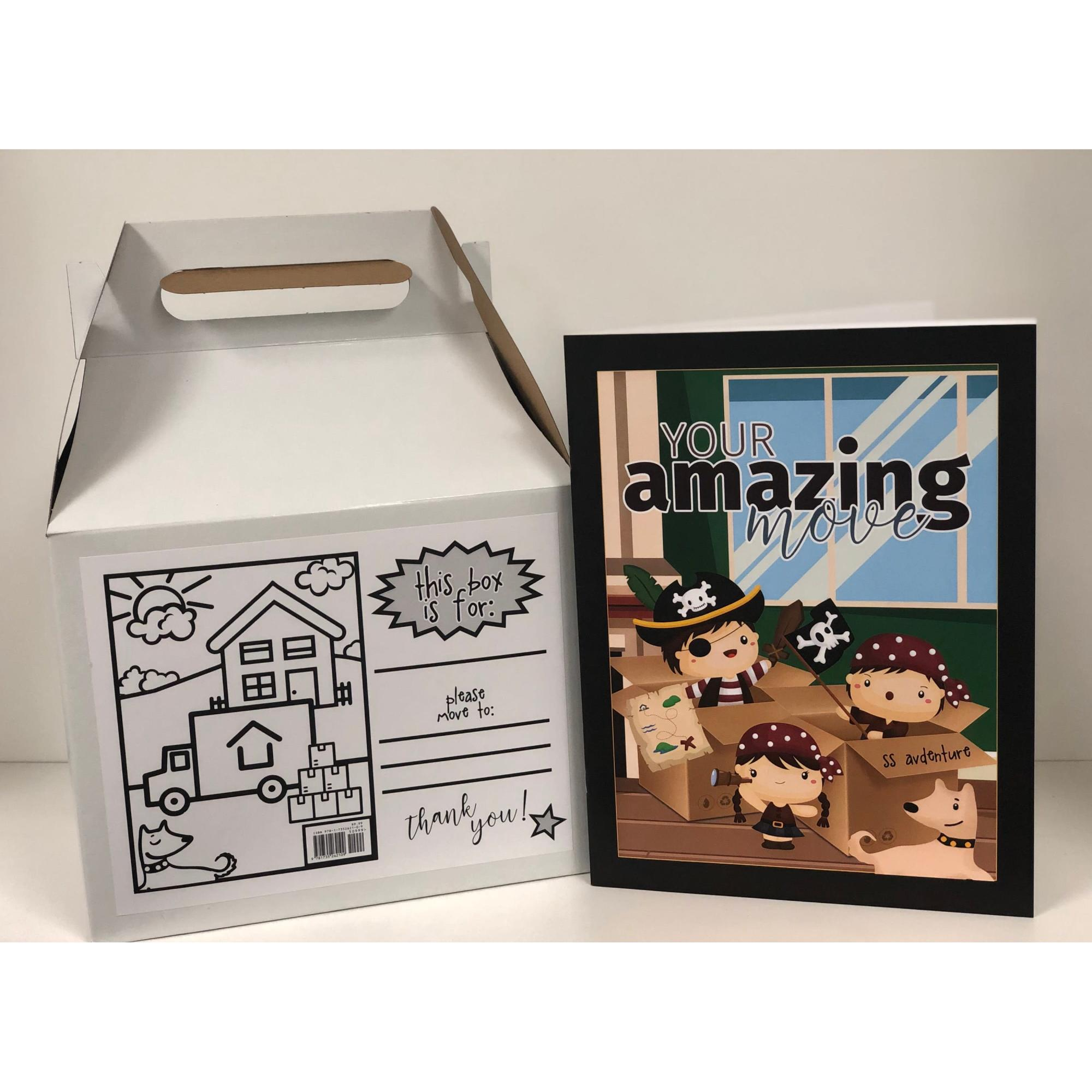 Your Amazing Move, Moving Box, Children Moving, Coloring Book