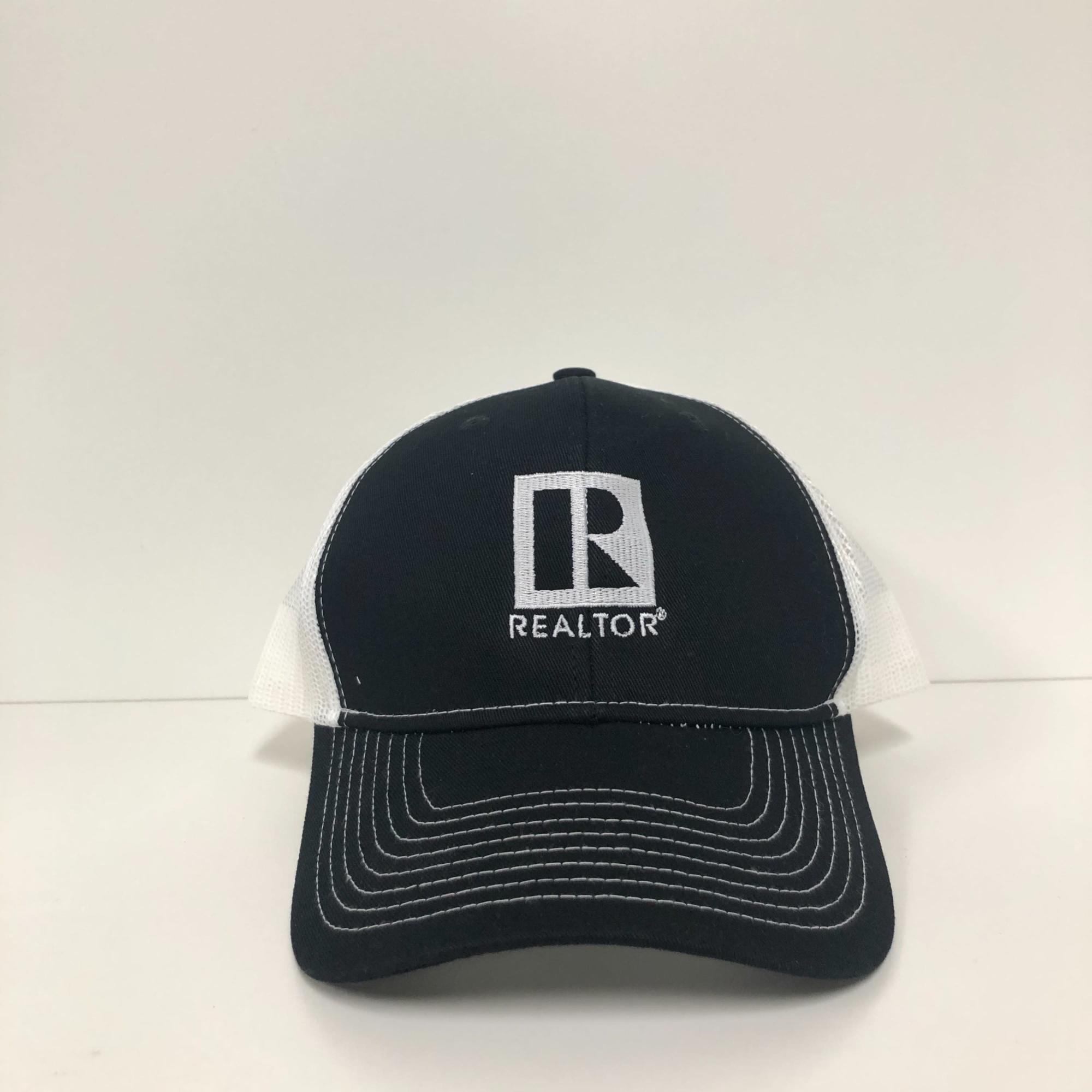 Trucker Cap, REALTOR, cap, Black and white, Realtor hat