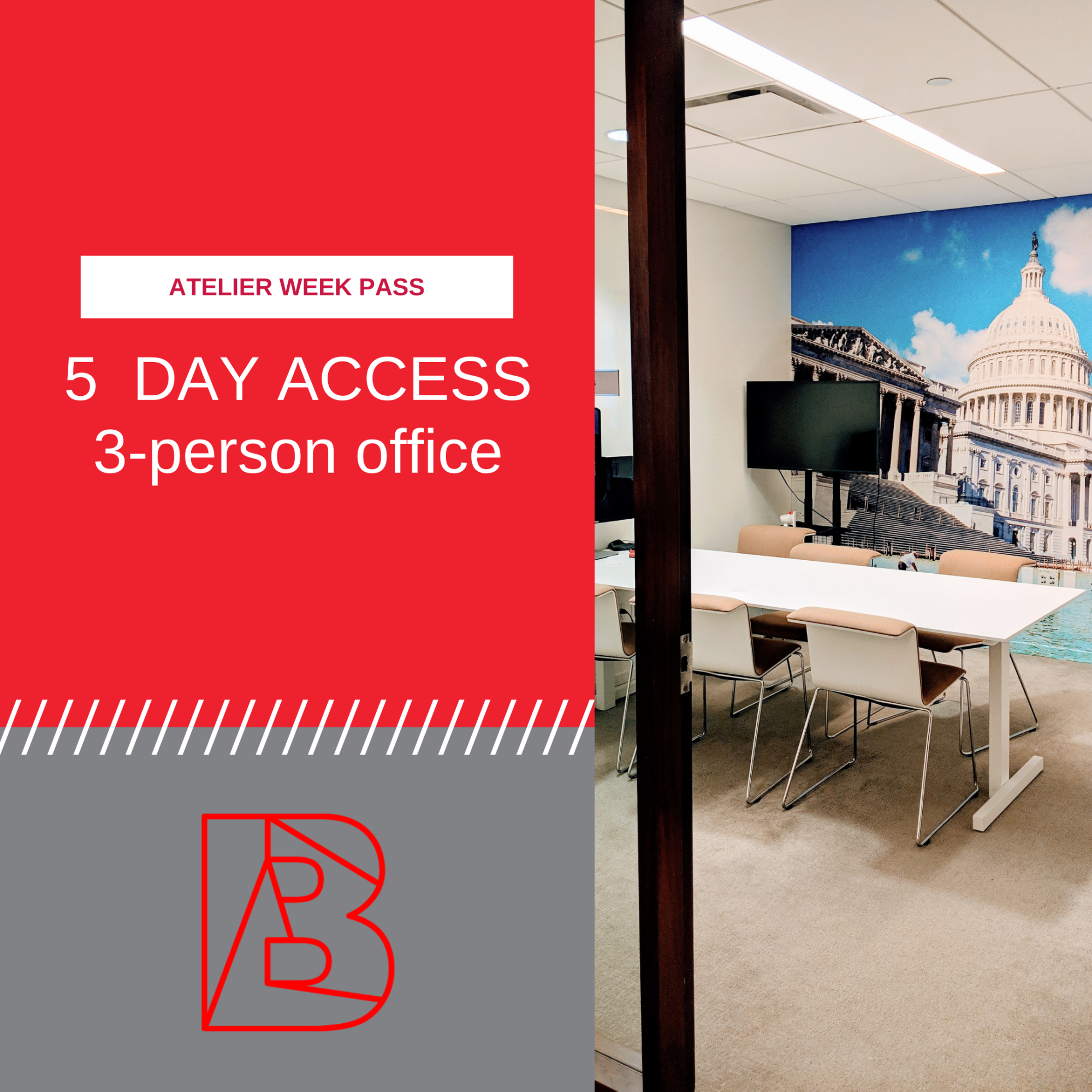week pass for 3-person office