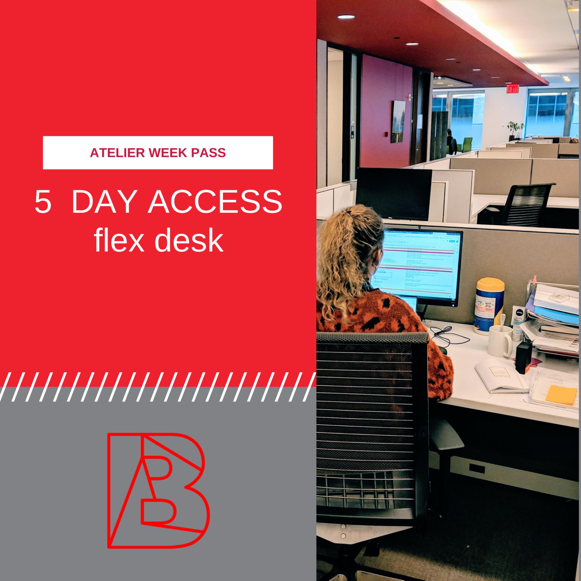 week pass for flex desk
