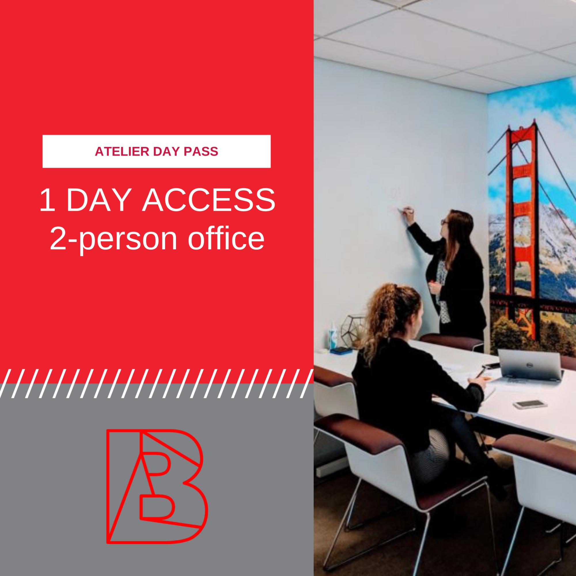 Day pass for two person office