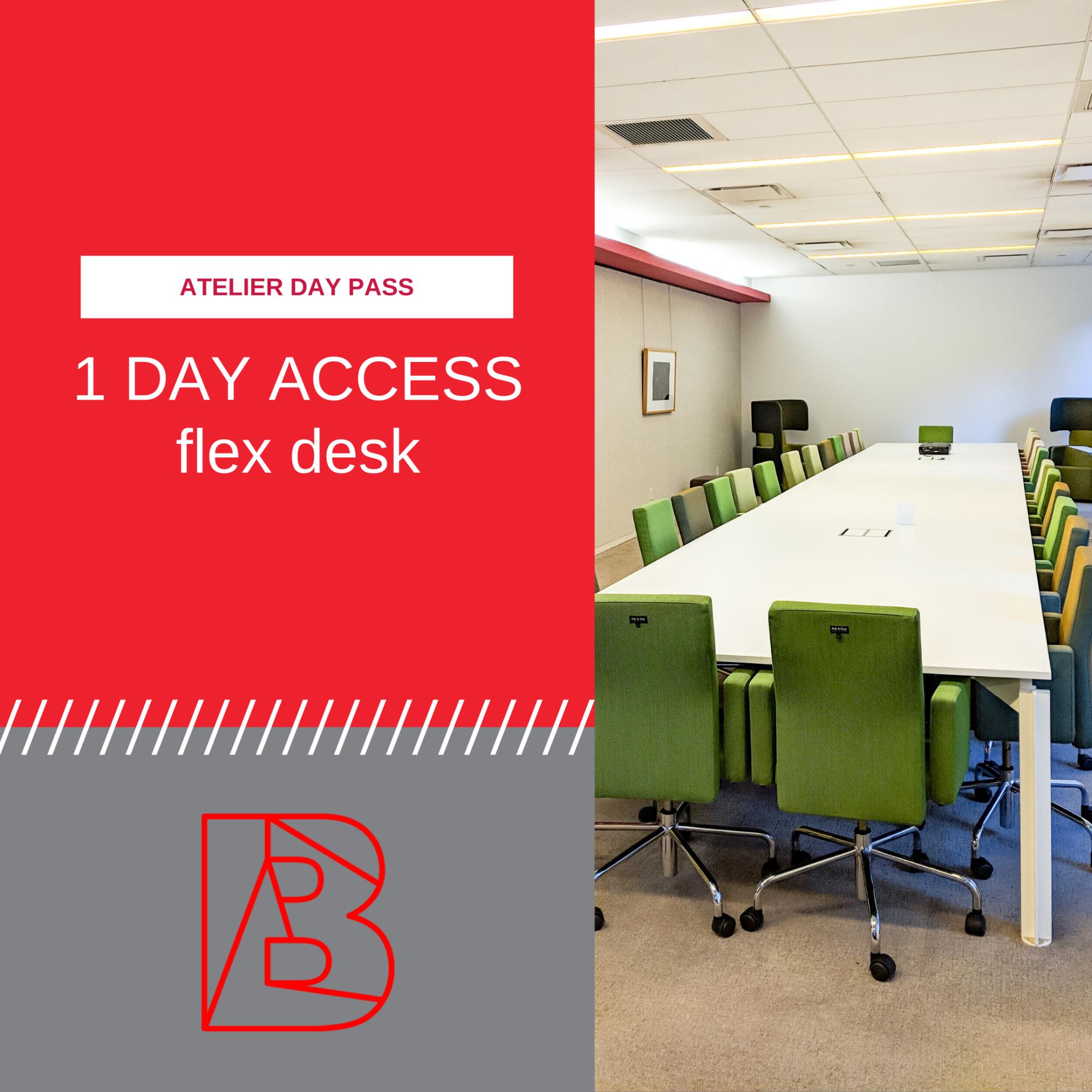 Day pass for flex desk