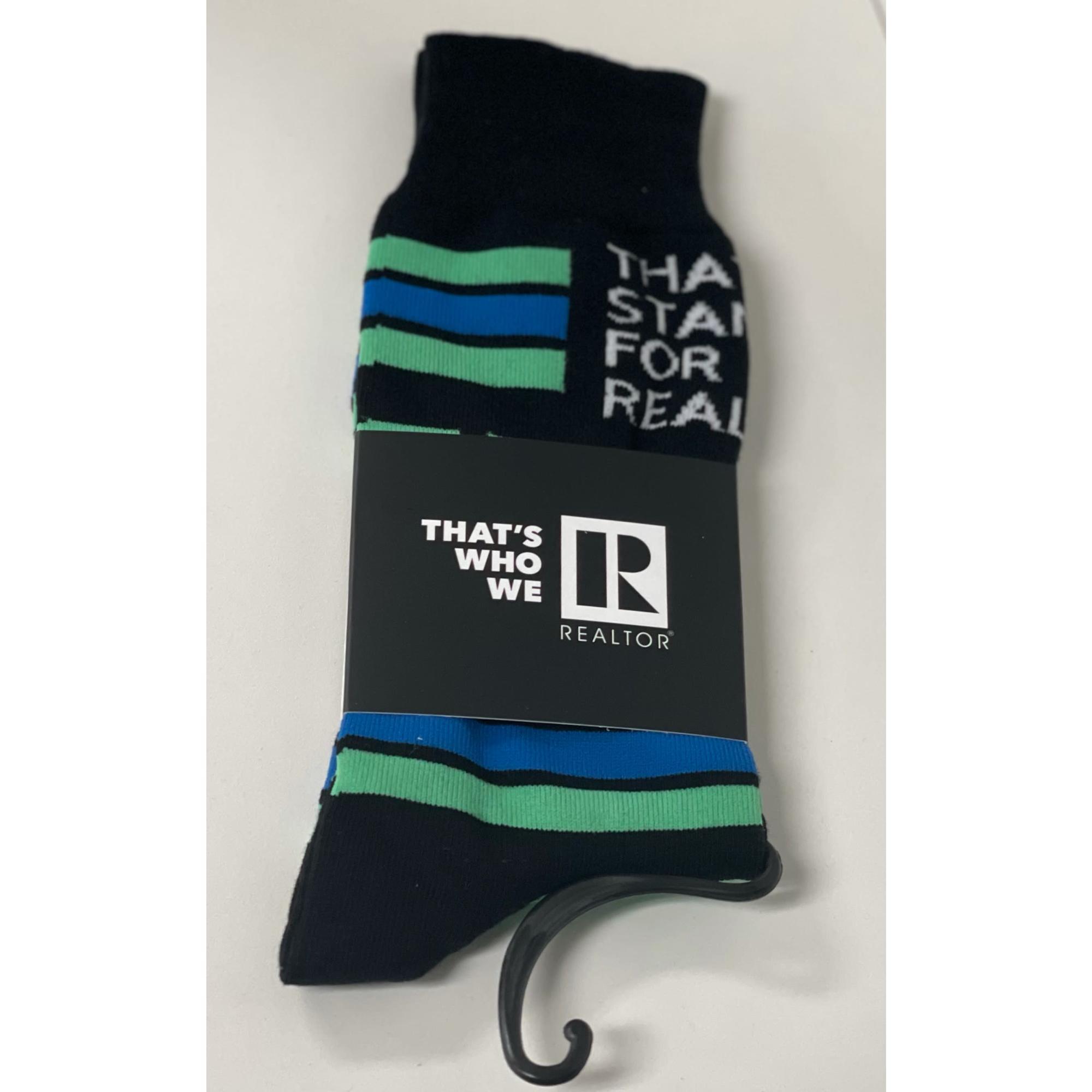 REALTOR® Striped Socks provided by WCREALTORS®