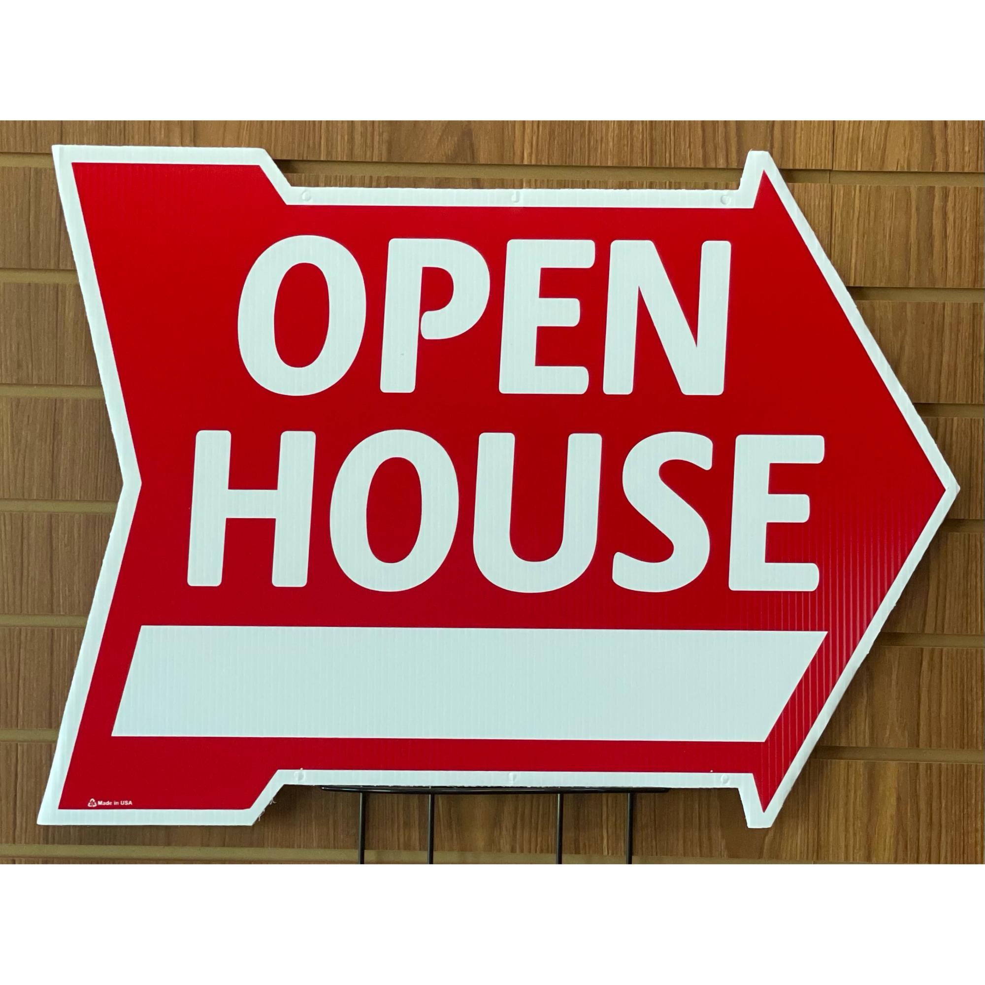 Open House w/Space -- Arrow Shape RED provided by WCREALTORS®