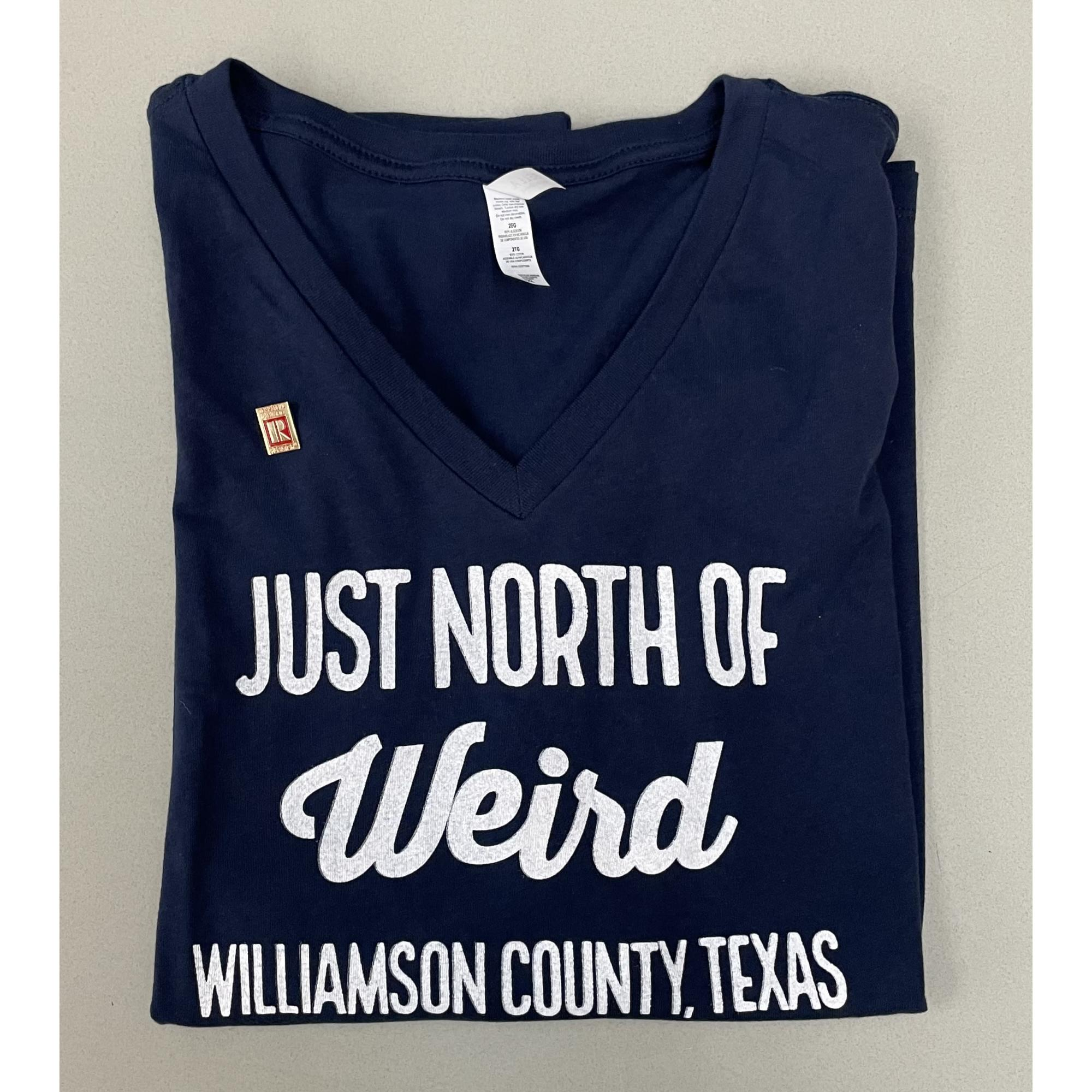 Just North Of Weird NAVY V-Neck provided by WCREALTORS®