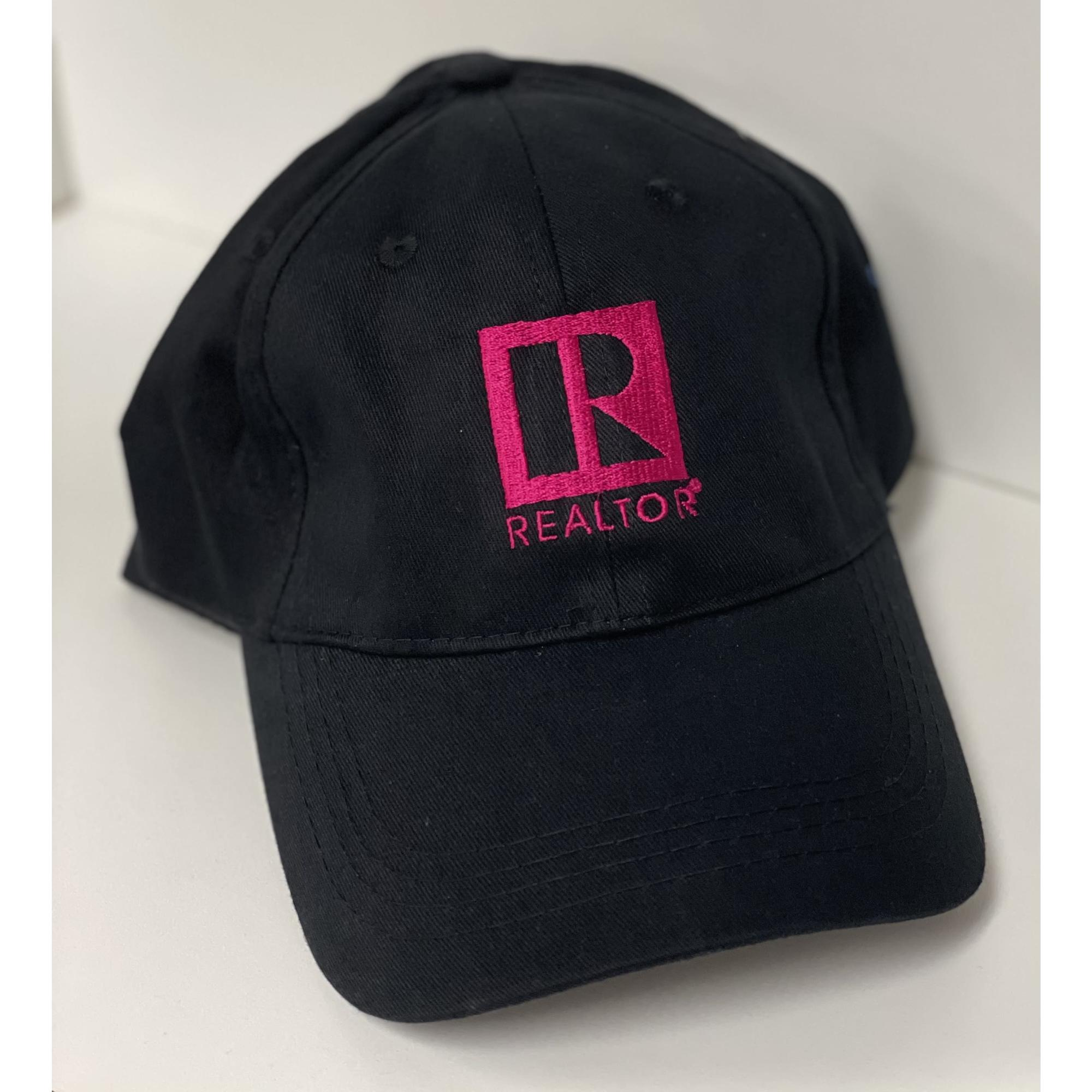 Black and Pink REALTOR® Ball Cap provided by WCREALTORS®