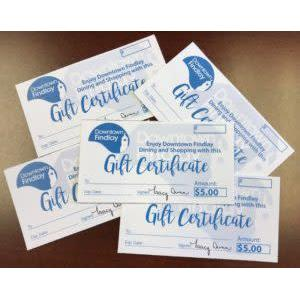 downtown gift certificates
