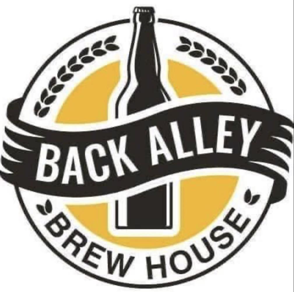 Back Alley Brew House logo - April 2021 - artwork of a beer bottle with logo
