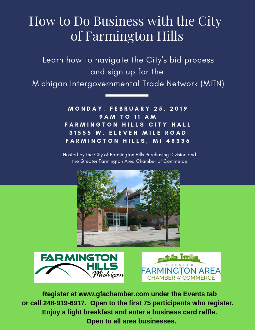 Learn about Navigating the City's Bid Process on Feb. 25