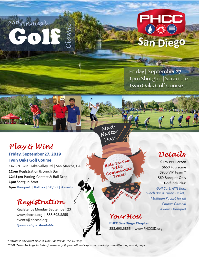 PHCC Golf 2019 Golf Flyer