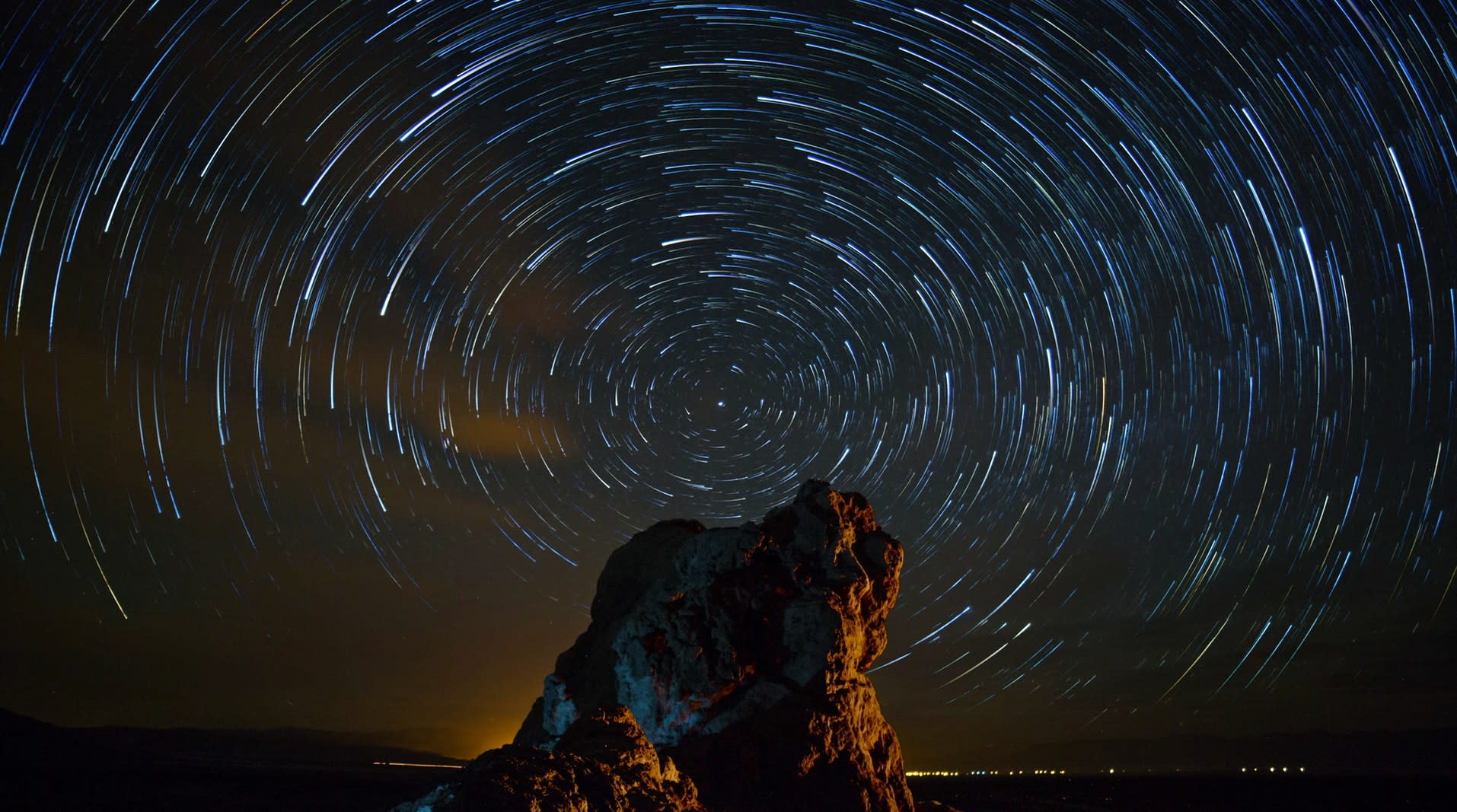 """""""A star trail sequence from the timelapse video """"Pinnacles."""" Image credit: Harun Mehmedinovic. Used by permission."""""""