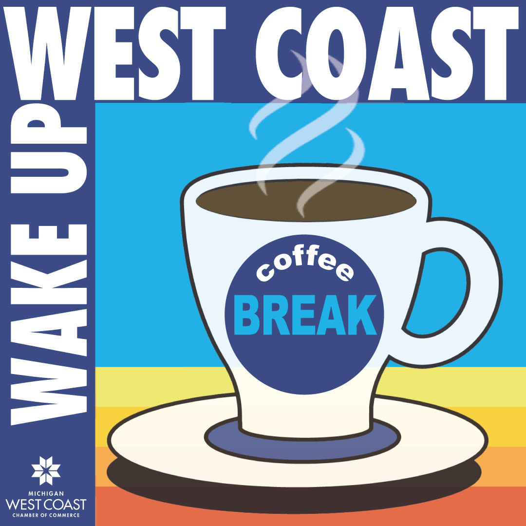 Wake Up West Coast Coffee Break Logo