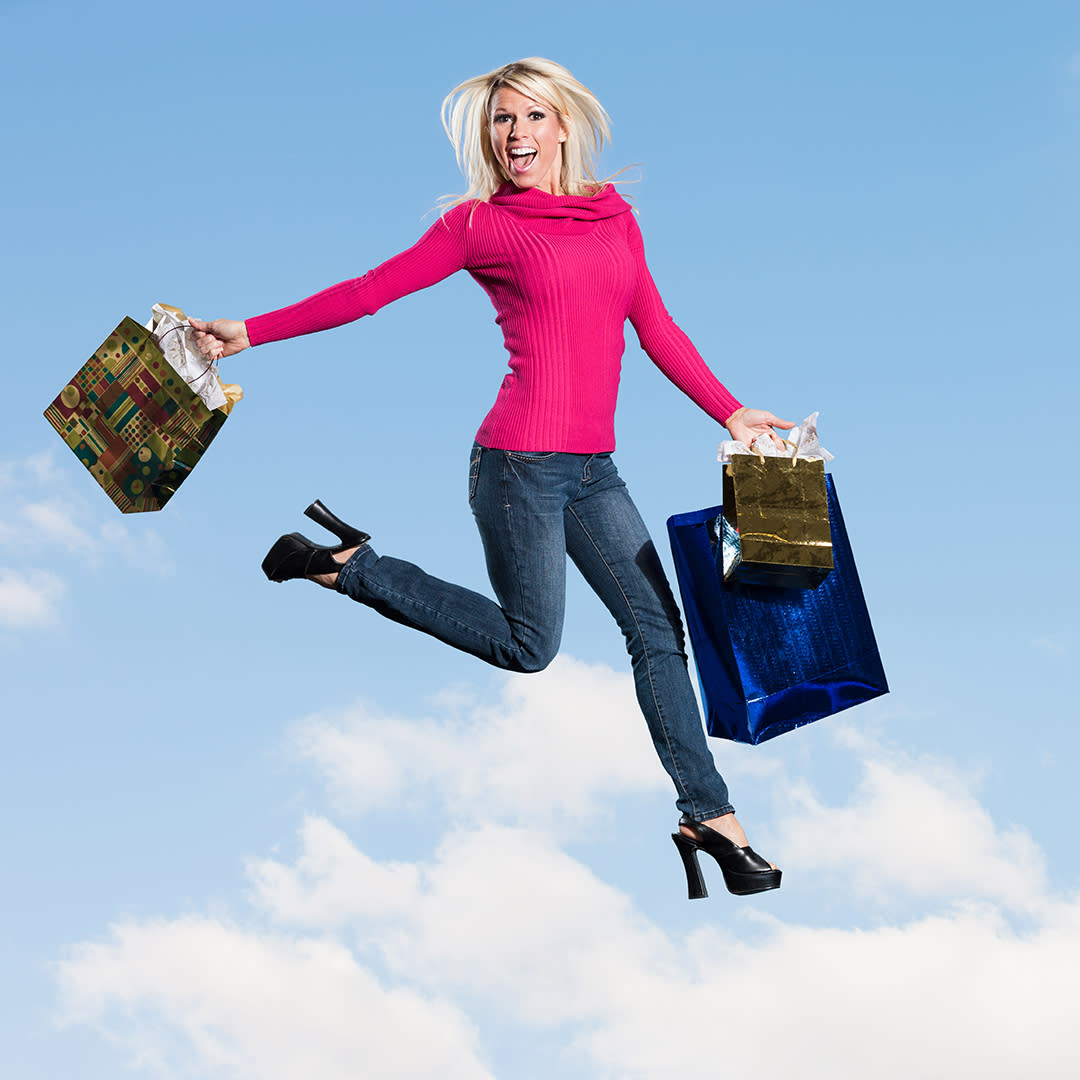 Photo of a woman with shopping bags