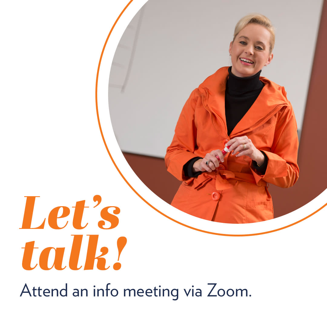 attend an info meeting via zoom