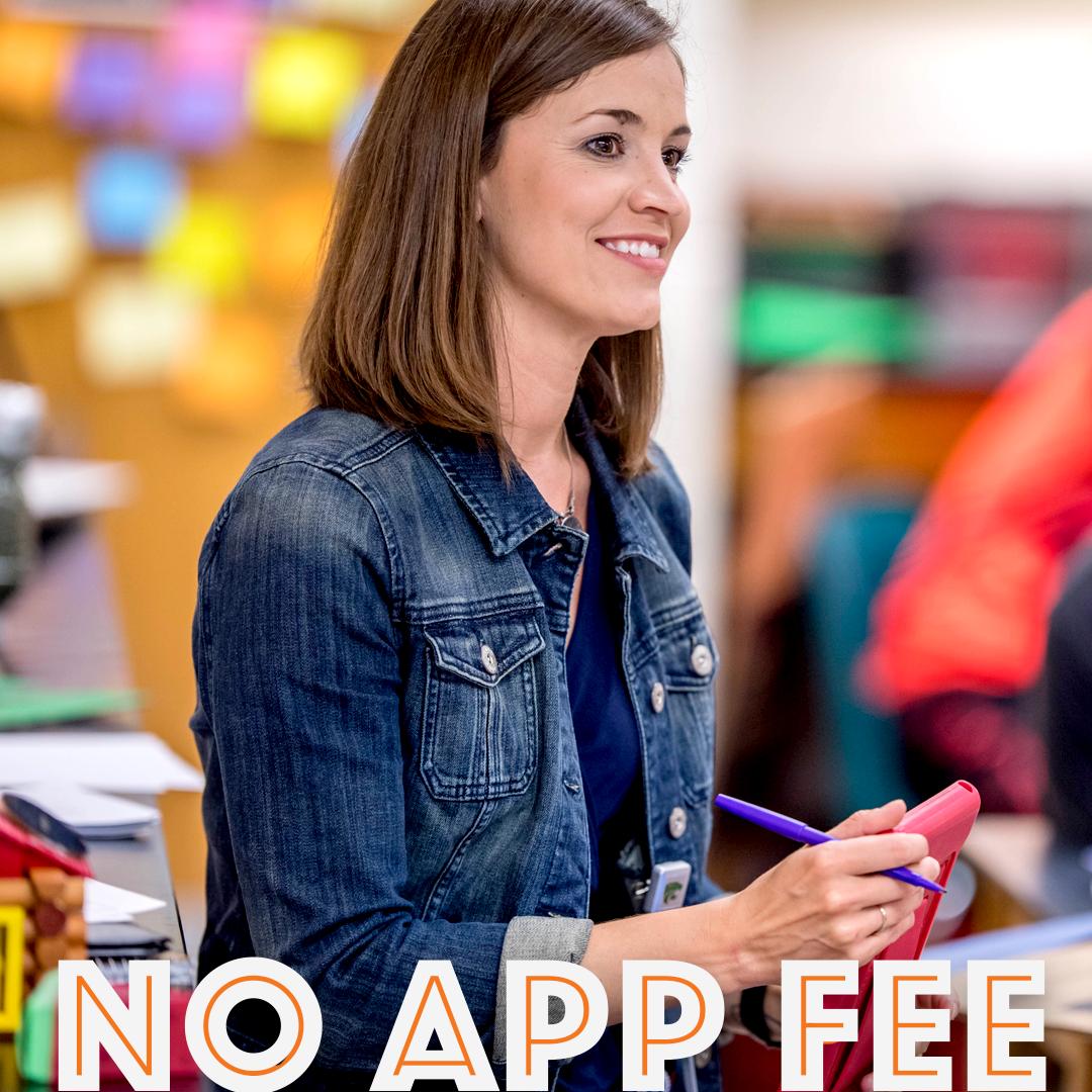 no application fee