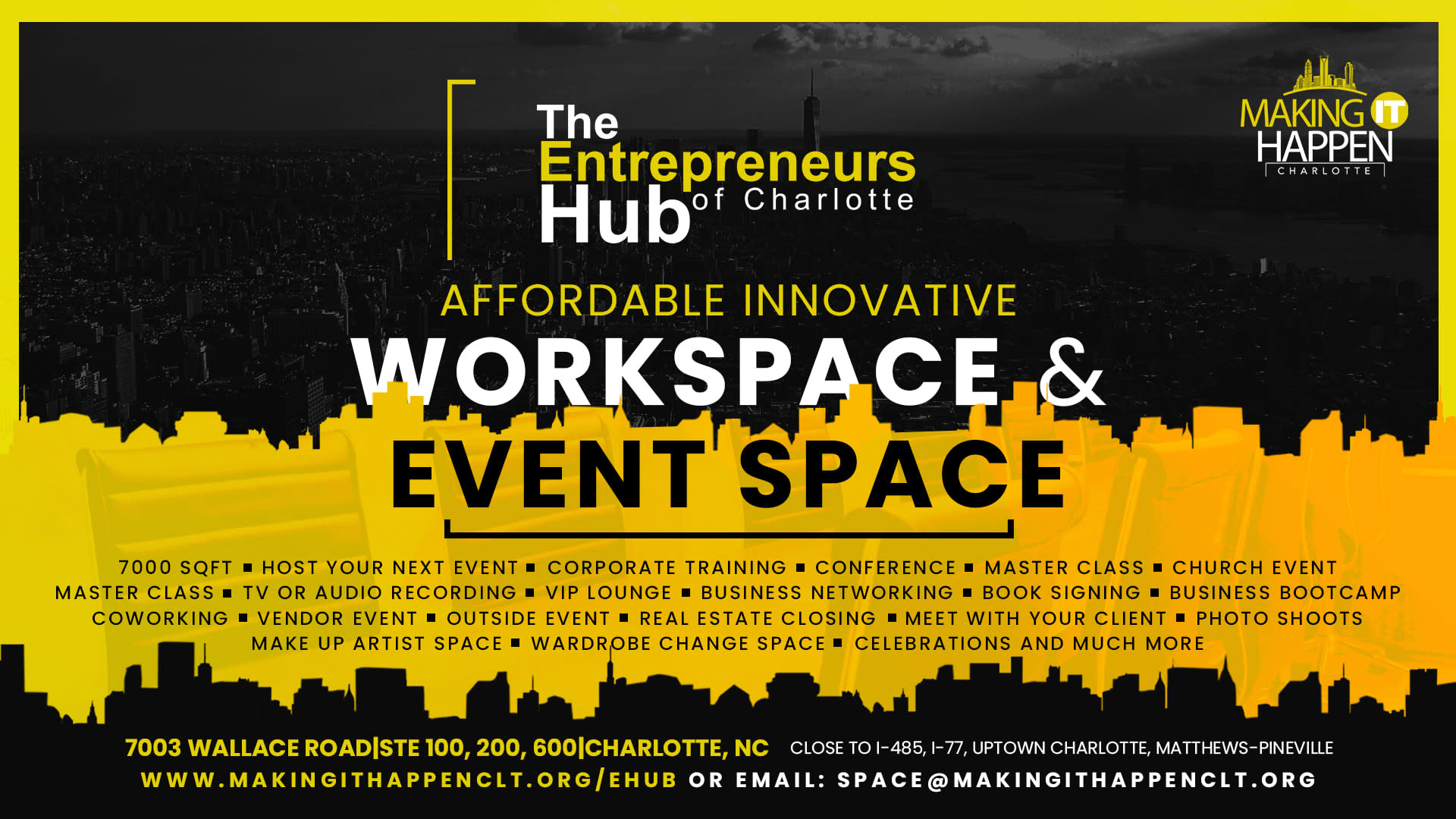 Workspace, Event Space and Meeting Space