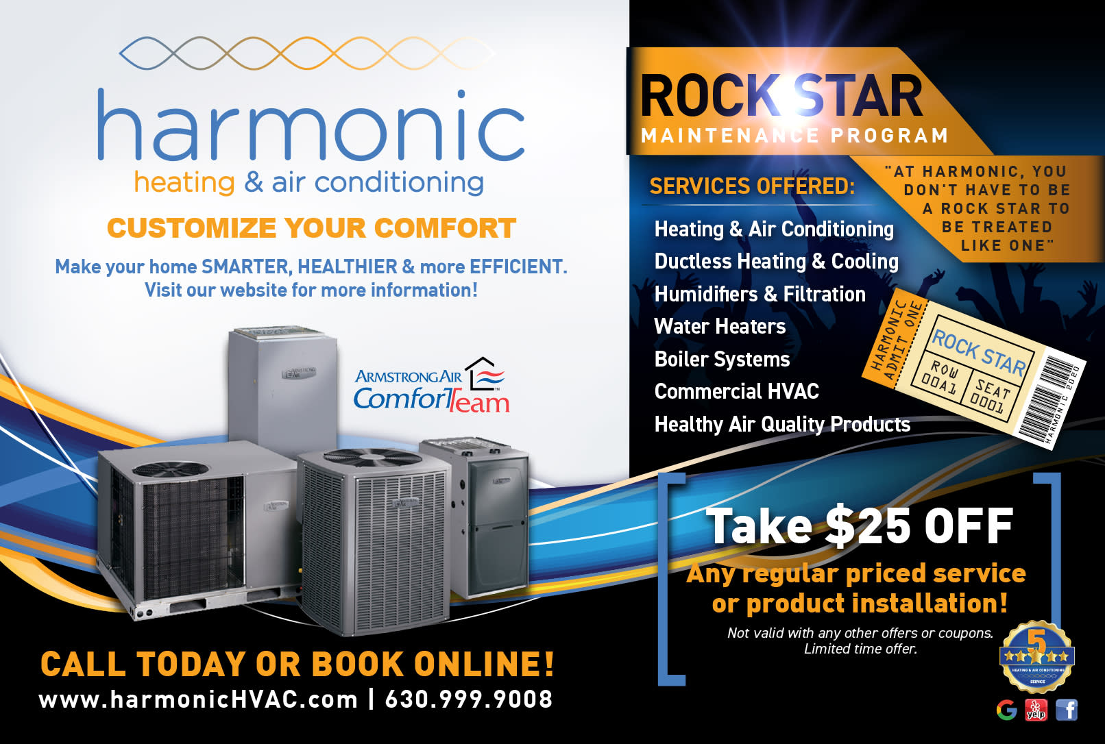 Rock*Stars SAVE BIG on Fall / Winter Furnace & Spring / Summer AC Cleaning, Repair Service, & Replacement