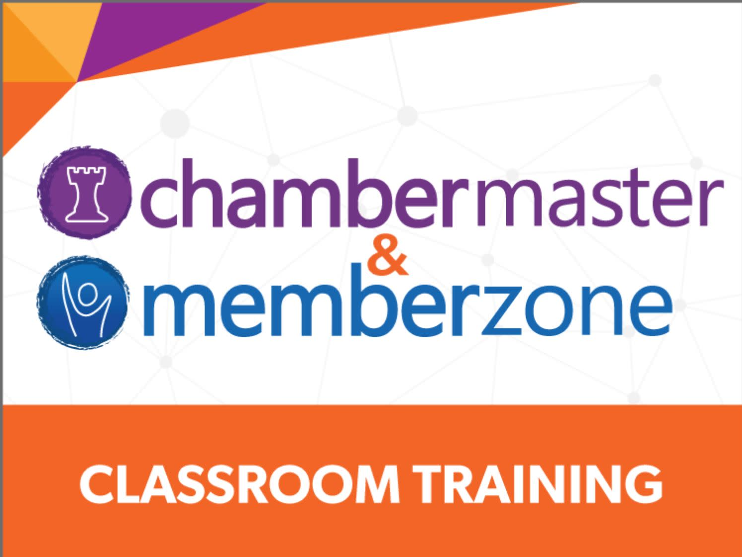 ChamberMaster/MemberZone  Regional Training -  Traverse City, MI Dec 3 - 4, 2019