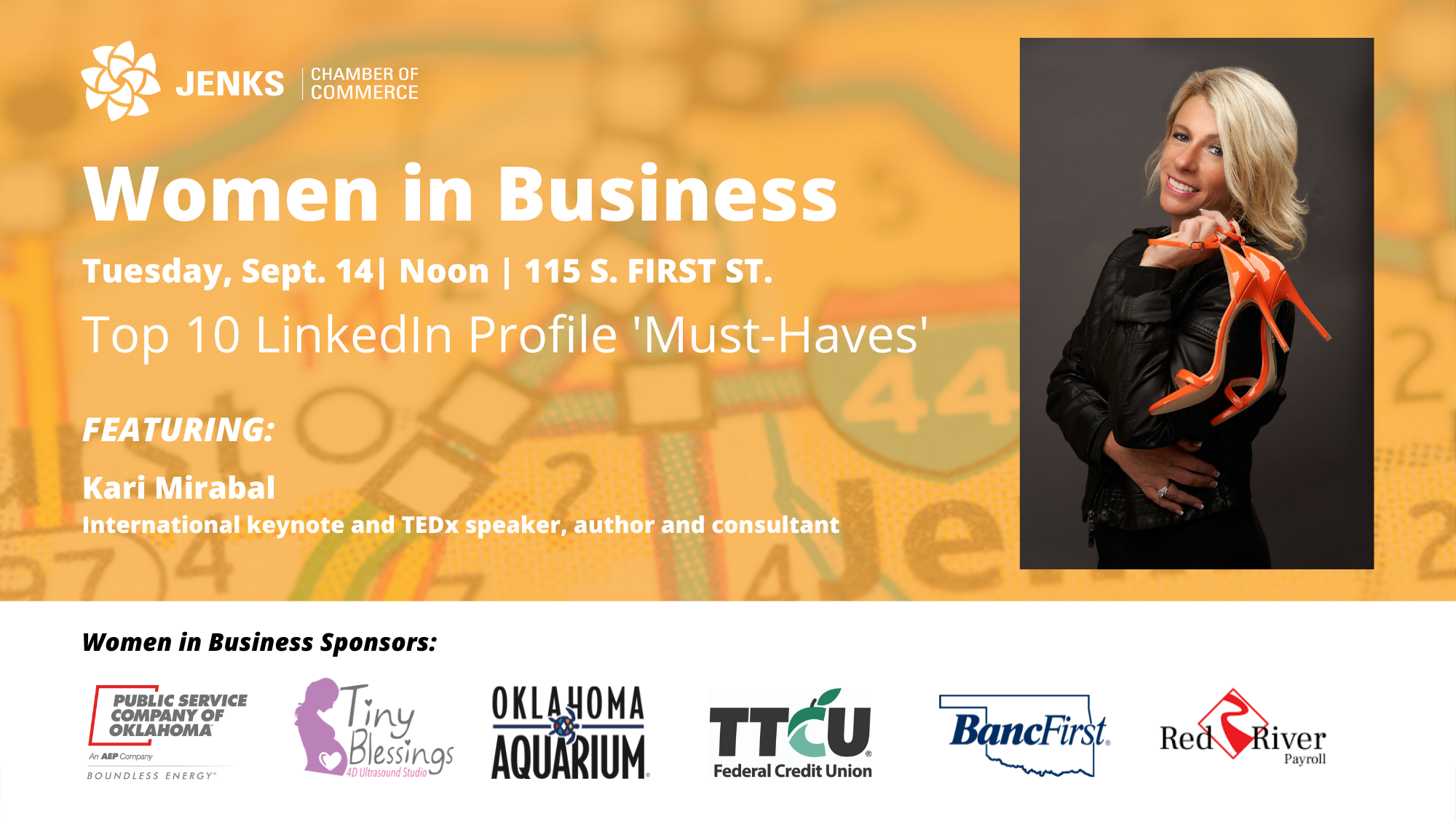 International speaker Kari Mirabal will present her top 10 LinkedIn profile 'must-haves' at the Women in Business Luncheon on