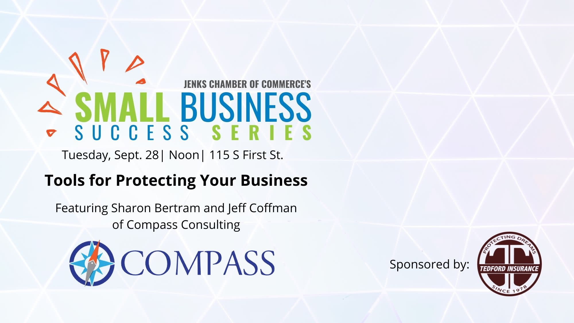 A graphic for the Small Business Success Series on Sept. 28