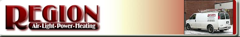 region air light power heating logo