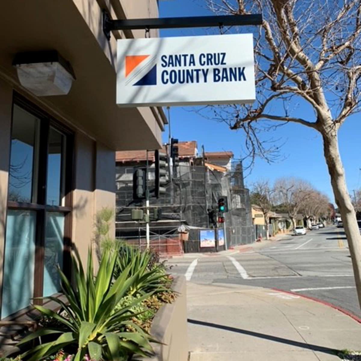 Side Exterior View of Santa Cruz County Bank, Monterey Branch on Munras Avenue