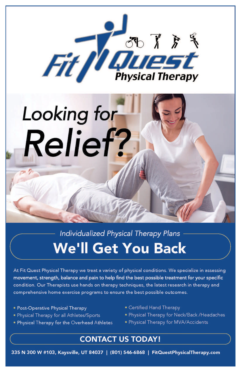 Fit Quest Physical Therapy   Kaysville Cares Ad